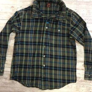 Nike 6.0 Plaid Button-up Hooded Shirt